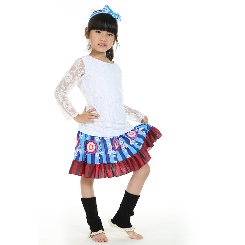2016New Baby Girl Toddler Infant Kids Clothing Set Boutique Outfit Lace Floral Long Sleeve Ruffle Skirt Leg Warmer Free Shipping<br>