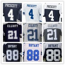 HOT Cheap men's jersey,Elite 4 Prescott 21 Elliott 9 Romo 22 Smith 50 Lee 82 Witten 88 Bryant jersey,Size M-XXXL(China (Mainland))