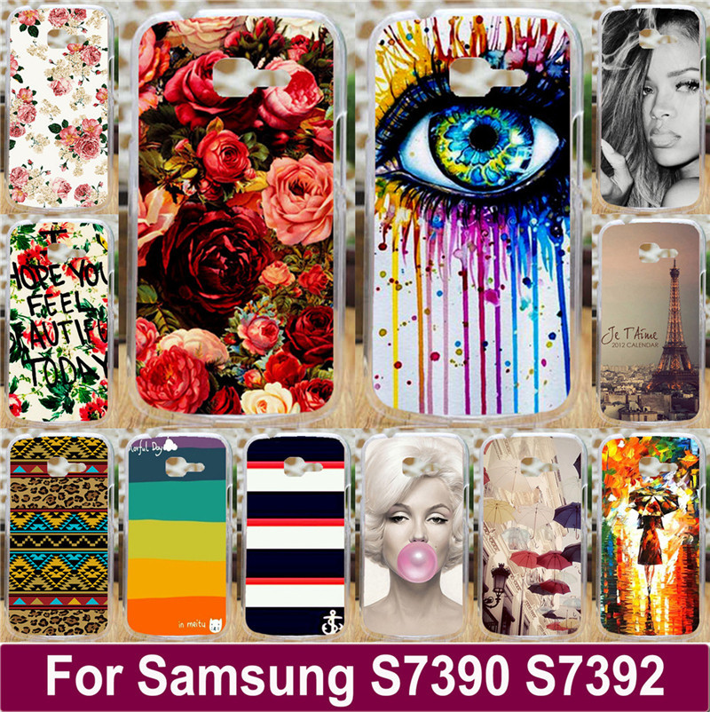 Beautiful Flowers Sexy Girl Tears Mobile Phone Case Hard Back Cover Shell For Samsung Galaxy Trend Lite S7390 S7392 7390 7392(China (Mainland))
