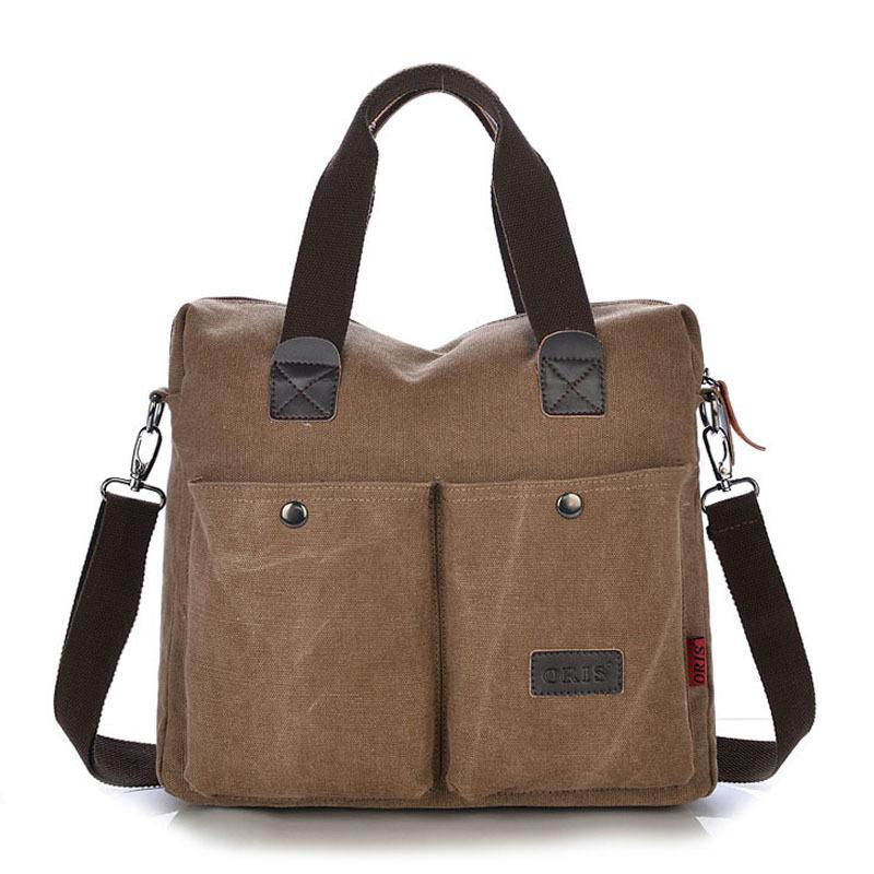 2015 explosion models thick canvas shoulder bag Messenger bags men's business casual men's canvas bag handbags(China (Mainland))
