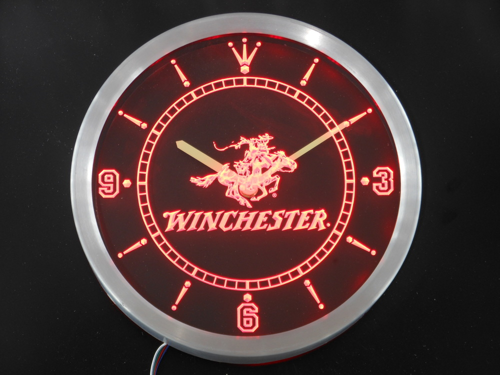 nc0189 Winchester Neon Sign LED Wall Clock(China (Mainland))