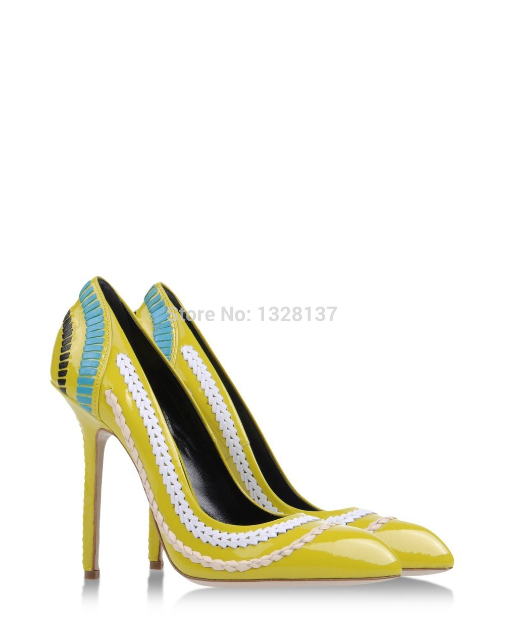 Patent Yellow Heels