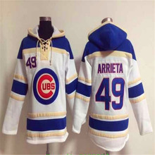 Cheap Mens Chicagos 17 Kris Bryant 49 Jake Arrieta 12 Kyle Schwarber Red Retro Home Road Stitched Long sleeve Hoodie Baseball Je(China (Mainland))