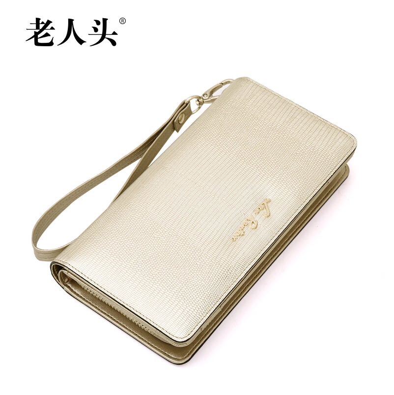 2015 New women Evening clutch bag purse Long wallets quality genuine leather bag famous brands wild cowhide fashion women bag<br><br>Aliexpress