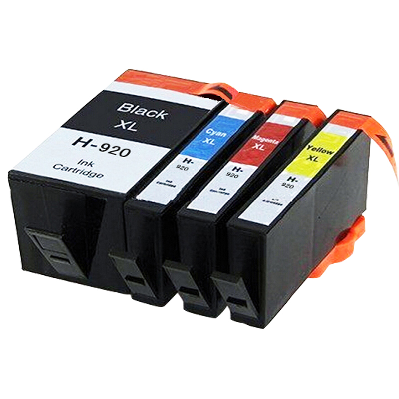 4 ink cartridge with chip compatible HP 920 XL 920XL for HP printer officejet 6000 6500 7000 7500 E790 with chip(China (Mainland))