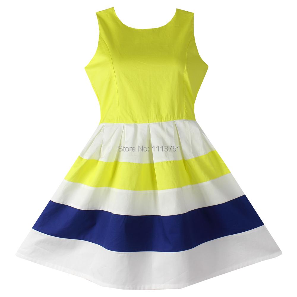 Buy Girls Dresses Yellow 100 Cotton