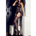 Sexy Lingerie Fishnet Crotchless Open Crotch vestidos eroticos Hollow Out Bodystocking Fetish Sexy Bodysuit Black