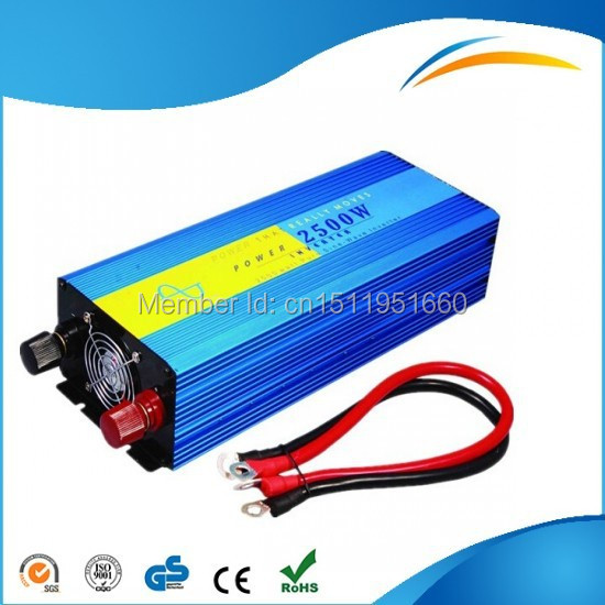 DHL Or Fedex Free shipping 12VDC 2500W Off-grid Pure Sine Wave Solar inverter for wind power system ,120/220VAC, 50/60Hz(China (Mainland))