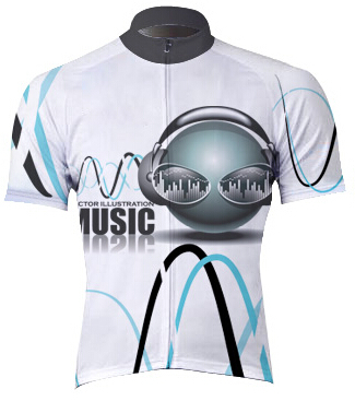 2016 new arrival fashion cycling jersey men short sleeve bike jersey printing music maillot breathable mtb racing bicycle clothe(China (Mainland))