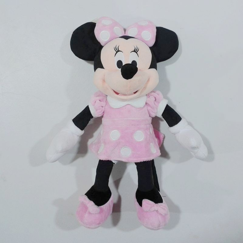 1pcs 45cm=17.7'' Pink Original Minnie Mouse Stuffed animals soft plush Toys,High quality Pelucia Minnie toy for baby(China (Mainland))