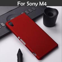 Красочные масло-контроля покрытием резиновые матовый футляр чехол для Sony Xperia M4 аква E2303 E2353 E2306 матовое задняя крышка капота гибридный чехол XJQ