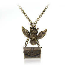 Classic Harry Potter Admissions Notification Envelope Owl magic Necklace Pendant for friend mysterious Christmas gift N0383