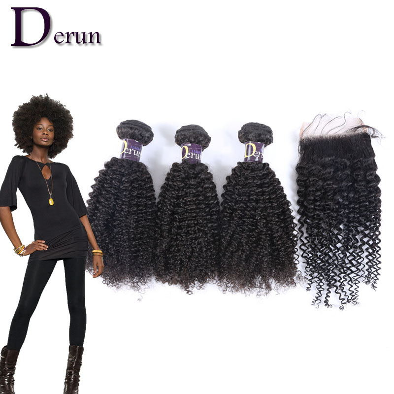 Unprocessed 6A Grade Brazilian Virgin Hair Kinky Curly 3pcs bundles with a Closure Cheap Wholesale Virgin Brazilian Hair Weave<br><br>Aliexpress