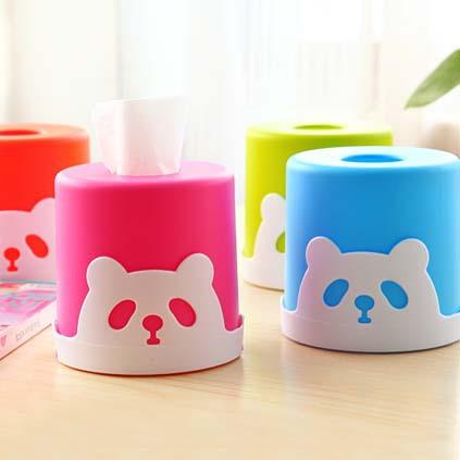 Free Shipping Fashion Cartoon Bear Cylinder Tissue Box Holder for House & Car Creative Napkin Box A131(China (Mainland))