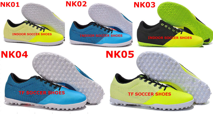 2015 T5 Elastico Finale III Indoor Soccer Shoes Blue Turf Football Shoes Soccer boots soccer cleats free shipping(China (Mainland))