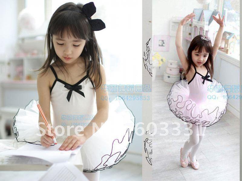 Girls Cute Ballet Costume TUTU Child Fairy Party Leotard Tutu Skirt Dance Skate Dress Size 3-8Y 2 Color - dance dress store
