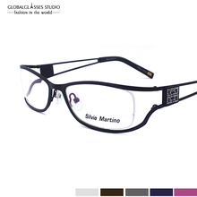 Graceful Lady Silvio Matino Stainless Steel Eyewear Glasses With Good Quality Bling Rhinestones SM4028
