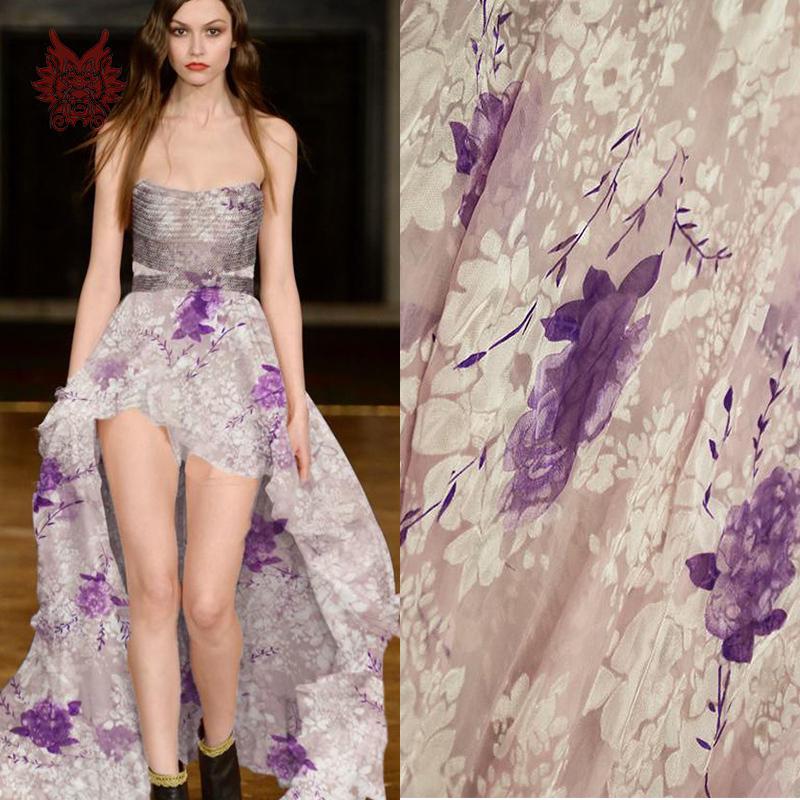Buy designer elegant white poly silk for Cloth for wedding dresses