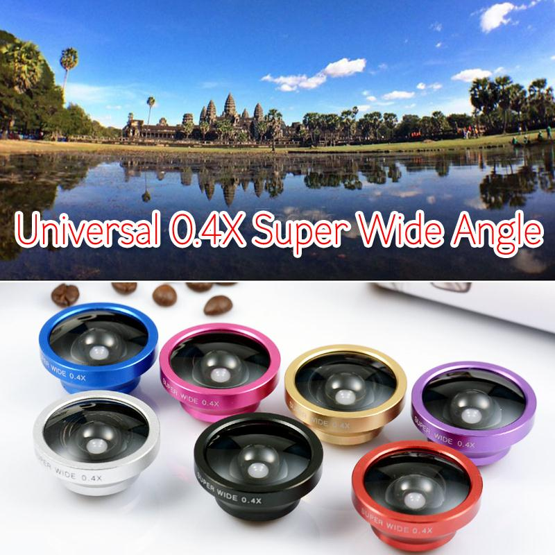 Universal Clip 0.4X Super Wide Angle Selfie Mobile Lens for iPhone 6 6Plus 5 5S 4S 4 HTC Samsung LG Most Phones Tablets