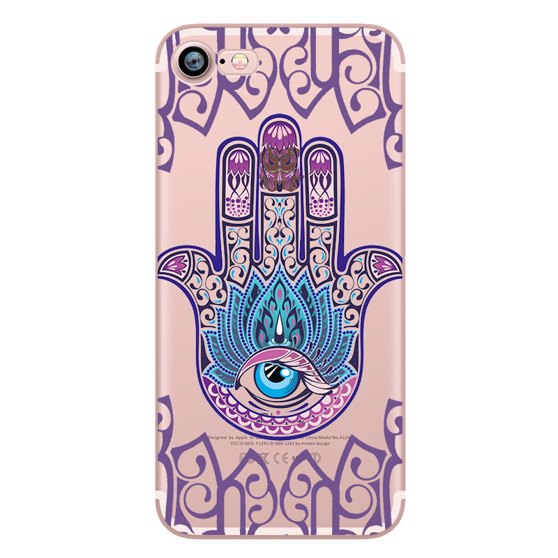 Fatima hand Case for iphone 6 6S 5s SE 7 7plus 6plus 6Splus Soft Silicone Phone Back Cover Capinha Coque(China (Mainland))