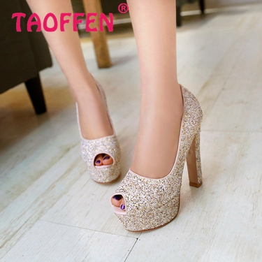 women open peep toe high heel shoes platform sexy brand quality footwear fashion heeled pumps heels shoes size 31-43 P18929
