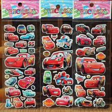 Free shipping! 10PCS / lot Hybrid Cars wall stickers 3D foam toys / children's cartoon bubble stickers decoration %(China (Mainland))