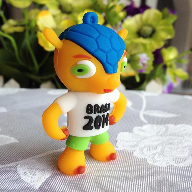 u disk flash disk Barzil World Cup Ball 4gb 8gb 16gb 32gb cup cartoon usb flash drive cartoon usb memory pen driver gifts gadget()