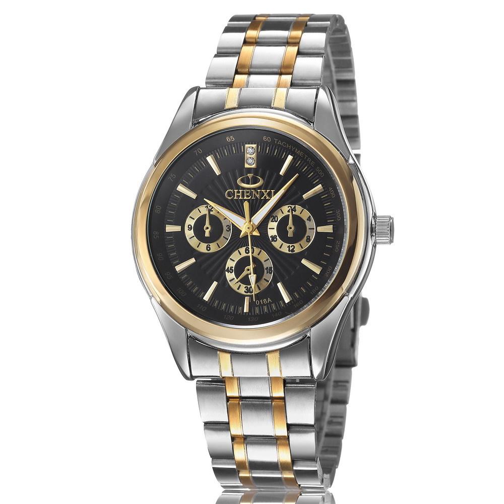 2015 fashion men's quartz watch stainless steel watches men luxury brand waterproof gold watches men top relogio masculino clock