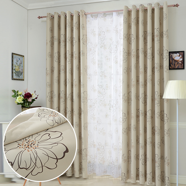 custom made floral blackout curtains panel for living room the bedroom