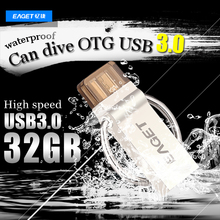 EAGET Official V90 32Gb G USB Flash Drive USB 3 0 OTG Smartphone Pen Drive Micro