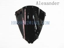 Buy Freeshipping Kawasaki ZX14R 2006 2007 2008 2009 ZX 14 ZZR1400 R R 06 07 08 09 Black Windshield WindScreen Double Bubble for $16.14 in AliExpress store
