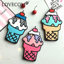 Buy LOVECOM iPhone 5 5S SE 5C 6 6S Plus 7 7 Plus Case Hot 3D Cartoon Ice Cream Soft Silicon Phone Bags & Cases Coque YC1527 for $2.38 in AliExpress store