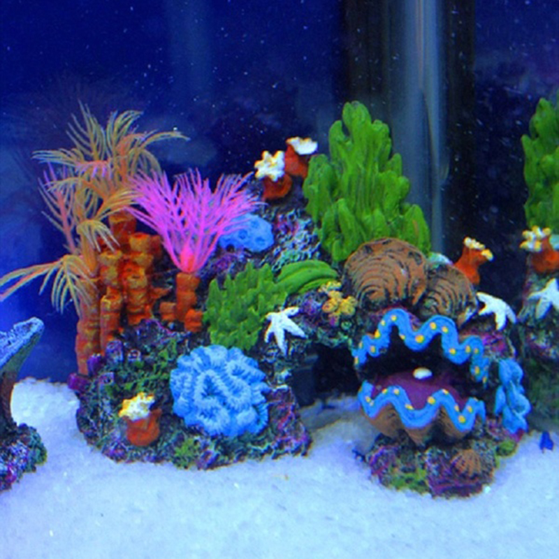 2016 new arrival aquarium artificial mounted coral reef for Artificial coral reef aquarium decoration inserts