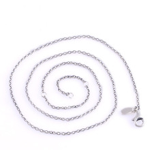 2014 New Lobster Clasps Chain Necklace Authentic 925 Sterling Silver Long Necklace For Women Bracelets For DIY Brand Jewelry(China (Mainland))