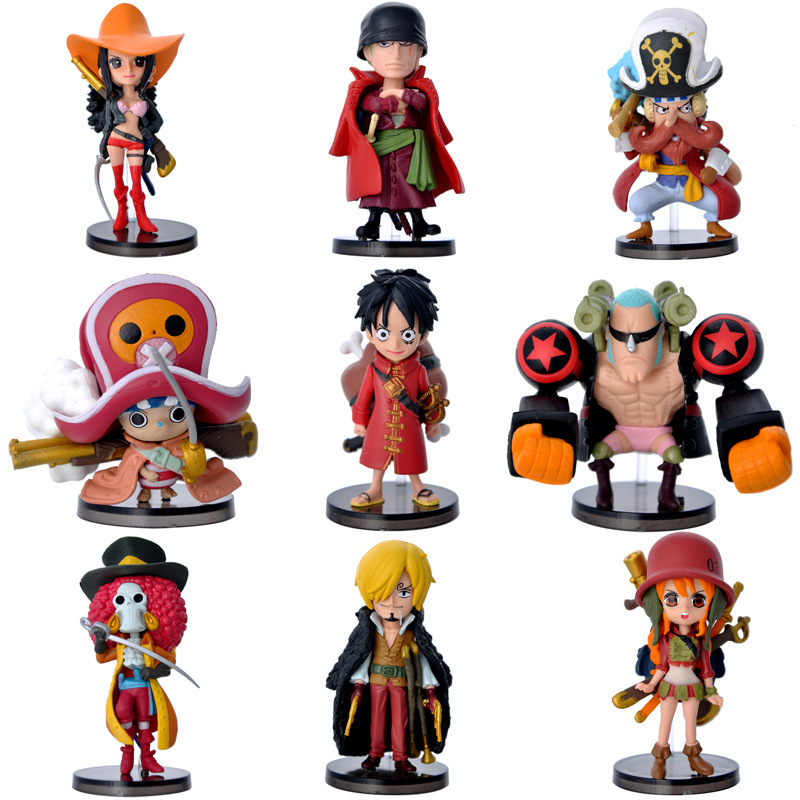 9pcs/set Anime One Piece Theatrical Edition Luffy Chopper Action Figure Juguetes 9CM One Piece Figures Collection Model Toys(China (Mainland))
