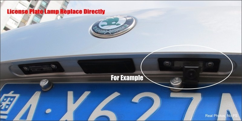 Intelligent Parking Tracks Car Rear Camera For Mercedes Benz E Class W212 Backup Reverse / NTSC RCA AUX HD SONY 580 TV Lines