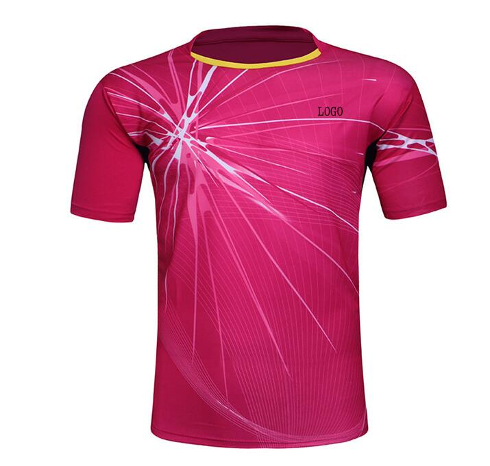 New badminton Shirt clothes,Polyester table tennis Jersey clothing,Breathable absorption Quick-drying Sport tennis T-shirt(China (Mainland))