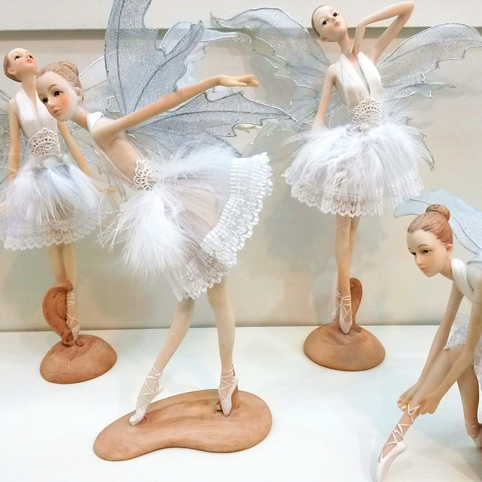 Shipping Ballet Fairy Doll Ornaments Home Furnishing Butterfly Wings Flower Fairy Angel Feather Crafts Birthday Gift(China (Mainland))