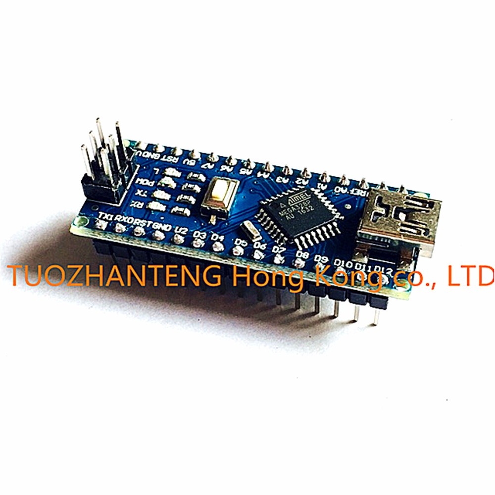 Freeshipping 1PCS Nano 3.0 controller compatible with arduino nano CH340 USB driver NO CABLE NANO V3.0