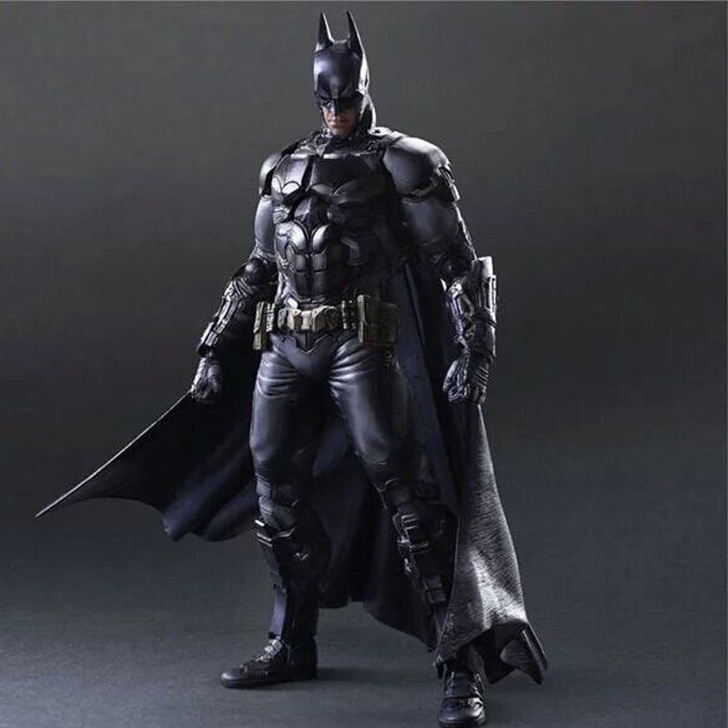 Anime figurine PlayArts KAI Superhero Batman Arkham Knight PVC Action Figure Model Toy 27cm <br><br>Aliexpress