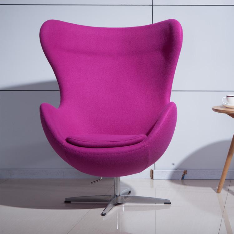 Modern minimalist fashion plush sheep egg chair fiberglass egg shaped high back sofa chair - Fiberglass egg chair ...