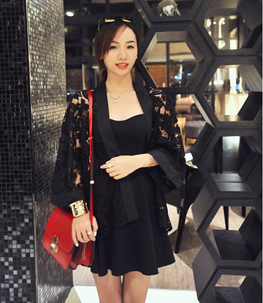 produto Summer New Elegant Sweet Blusas De Renda Openwork Blusa De Croche Lace Blouse