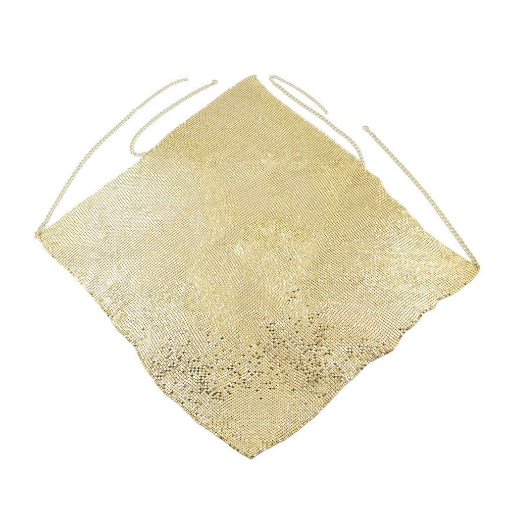 Elegant Sexy V-neck Vest Halter Chain Sequined Mesh Shirt Bikini Bra Silver/Gold/Black Lady Girls Summer Body Jewelry