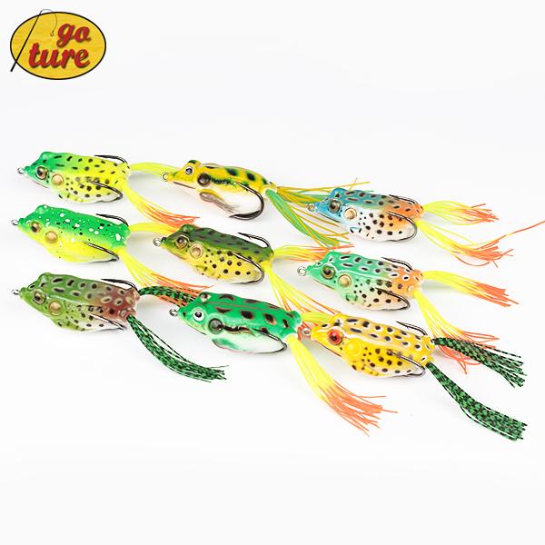 Goture Frog Lure 5.45CM/12.3G Topwater pesca fishing artificial Lure Soft baits iscas artificiais 9 Piece(China (Mainland))