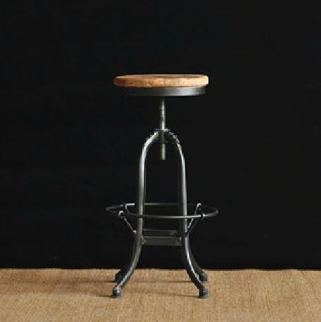 Farmhouse rustic old elm rub the wax to do the old retro bar chair / bar stool cafe hob(China (Mainland))