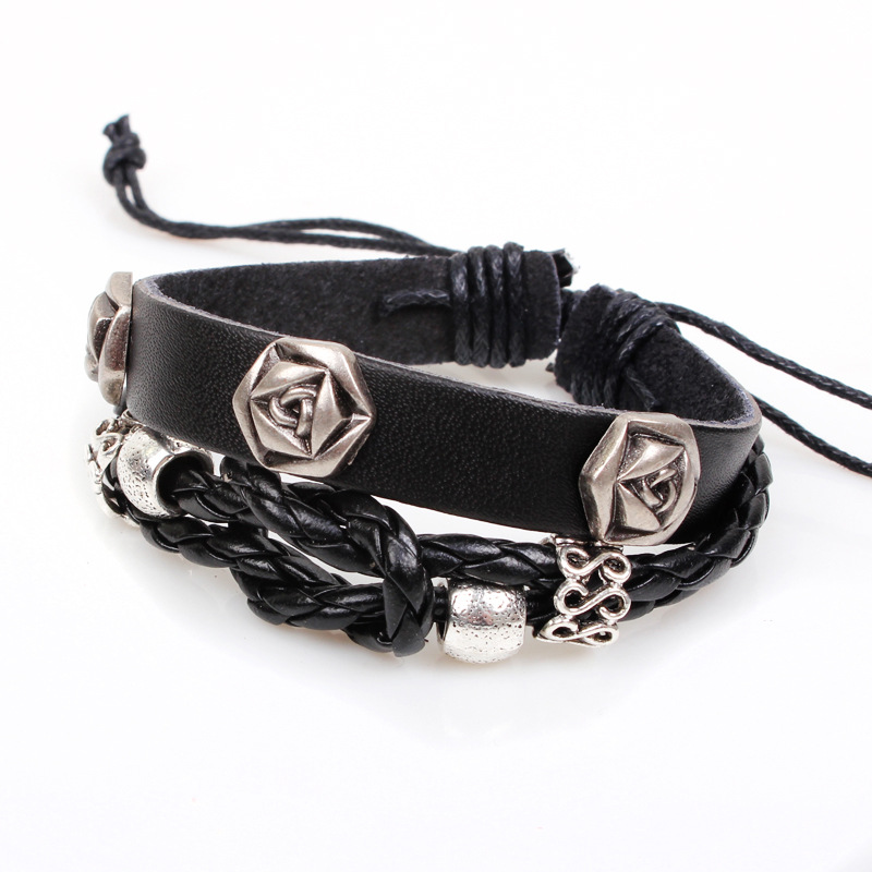 Qinuo new palace style jewelry rose about rivets leather for Rivets for leather jewelry