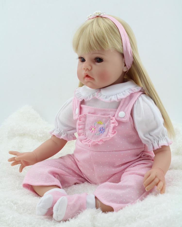 20 Inch 50cm Fashion Boneca  Reborn Realistic Soft Silicone Reborn Baby Alive Dolls Toy With Cute Dress dolls for girls