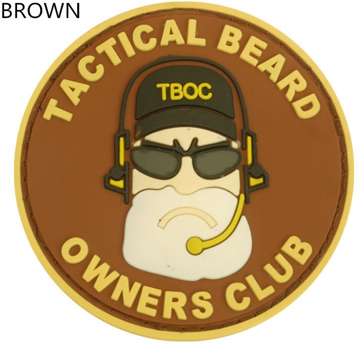 """""""TACTICAL BEARD""""""""OWNERS CLUB"""" High-quality environmental protection PVC rubber armband Military morale patch(China (Mainland))"""
