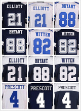 Men's 21 EZEKIEL 88 DEZ 82 JASON 22 EMMITT 4 Dak Thanksgiving BLUE WHITE elite jerseys(China (Mainland))