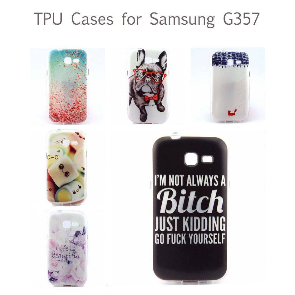 High Quality Popular TPU Soft Skin Cover Case Mobile Phone Cases for Samsung Galaxy Ace 4 Style LTE G357 G357FZ(China (Mainland))